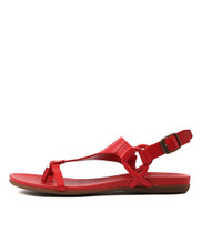 BARISHA Sandals in Red Leather