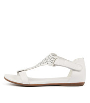 BRYTNEY Sandals in White Leather