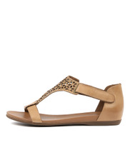 BRYTNEY Sandals in Tan Leather
