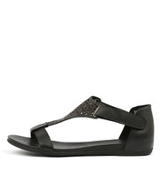 BRYTNEY Sandals in Black Leather