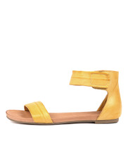 JUZZ Sandals in Yellow Leather