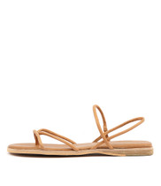 TENJI Sandals in Dark Tan Leather