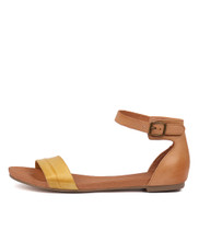 JERE Sandals in Yellow/ Tan Leather