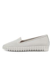 HARUKO Flats in White Leather