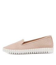 HARUKO Flats in Pale Pink Leather