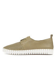 HUSTON Flats in Khaki Leather