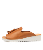 MAYSON Flatform Sandals in Dark Tan Leather