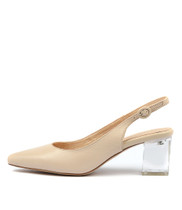 HINNIS High Heels in Nude Leather