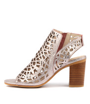 VIMANY Heeled Sandals in Rose Crush Leather