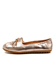BALLAD Ballet Flats in Rose Gold Leather