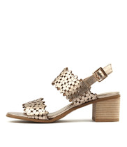 DOLS Heeled Sandals in Champagne Leather