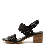 DOLS Heeled Sandals in Black Leather
