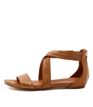 JELLIN Flat Sandals in Tan Leather