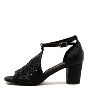 CAVILA Heeled Sandals in Black Leather