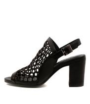 VIKKI Heeled Sandals in Black Leather