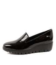ZAMBA Flatform Loafer in Black Patent Leather