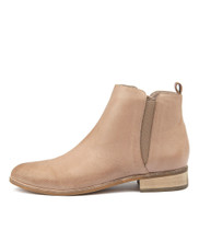 INFLICT Ankle Boots in Smoke Cut Leather