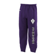 SCD Russell Adult Dri Power Closed Bottom Pant - Purple