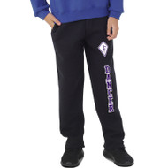 SCD Russell Youth Dri Power Open Bottom Pant with Pockets - Black (SCD-044-BK)