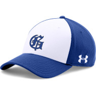 GMB Under Armour Men's Colourblock Curved STR Hat - White/Royal (GMB-057-WH)