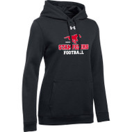 BMF Under Armour Women's Hustle Fleece Hoody - Black (BMF-022-BK)
