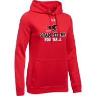 BMF Under Armour Women's Hustle Fleece Hoody - Red (BMF-022-RE)
