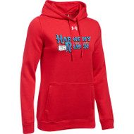 45TH Anniversary Under Armour Women's Hustle Fleece Hoodie - Red