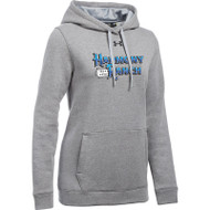 45TH Anniversary Under Armour Women's Hustle Fleece Hoodie - True Grey (HRR-261-GY)