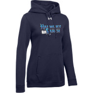 45TH Anniversary Under Armour Women's Hustle Fleece Hoodie - Navy (HRR-261-NY)