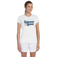 45TH Anniversary Ladies Gildan Performance T-Shirt - White (HRR-242-WH)