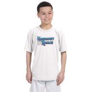 45TH Anniversary Youth Gildan Performance T-Shirt - White (HRR-342-WH)