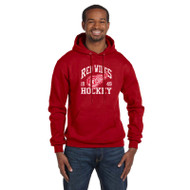 GRW Champion Adult Powerblend Eco Fleece Hoodie - Scarlet Heather (GRW-001-SH)