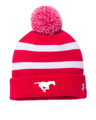 BMFA Under Armour Men's Pom Beanie - Red