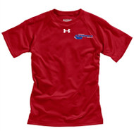 Newmarket Stingrays Under Armour Game Short Sleeve Locker Tee - Red/White - Youth