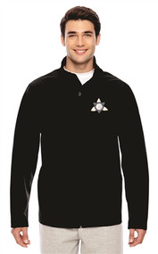 Ontario District Embroidered Men's Soft Shell Jacket - Black