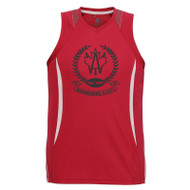 AJX Razor Men's Singlet - Red/White