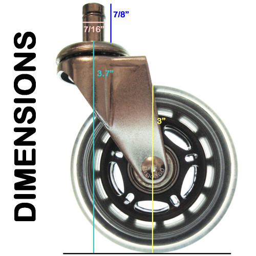 Dimensions Of Roller Blade Casters