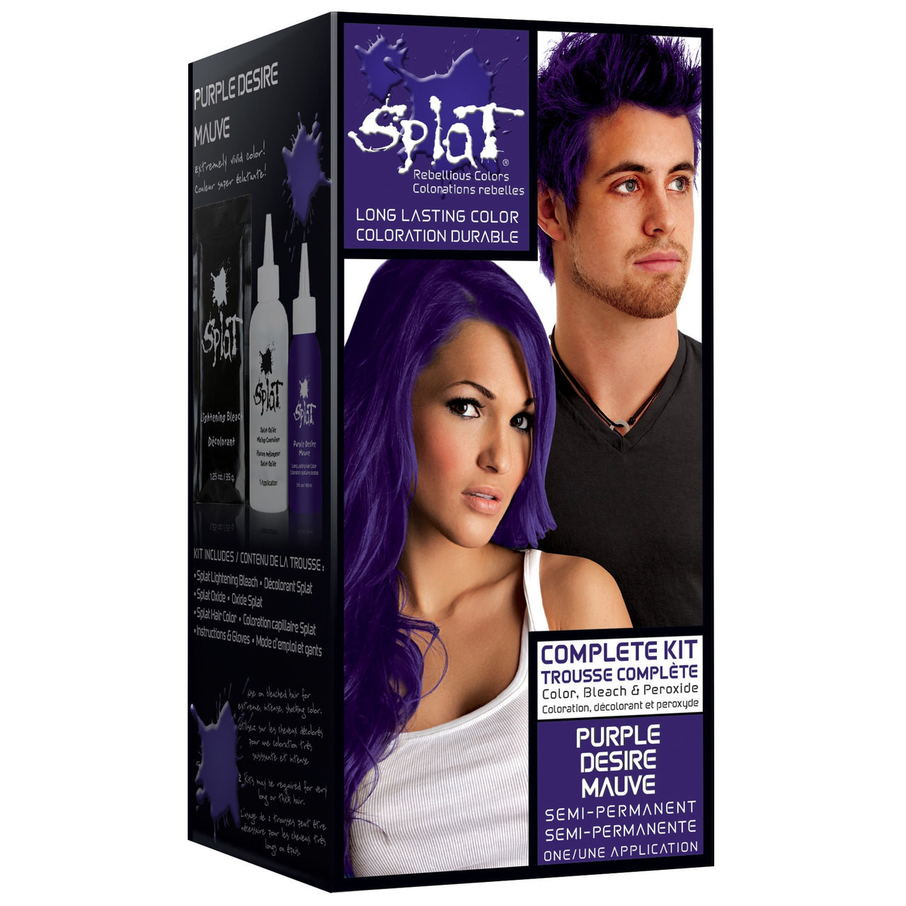 splat rebellious colors semipermanent hair dye purple