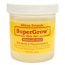 African Formula SuperGrow Hair Gel Regular Hold 16 oz