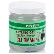 Clubman Super Clear Superhold Styling Gel 16 oz