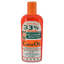Hollywood Beauty Carrot Oil Repair Repairs Split Ends 8 oz