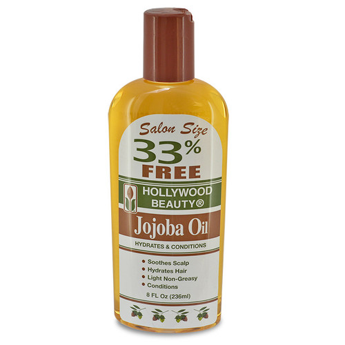 Hollywood Beauty Jojoba Oil Hydrates & Conditions 8 oz