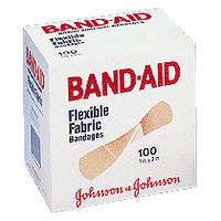 "Band-Aid Flexible Fabric Adhesive Bandage 1"" x 3""  534444-Box"