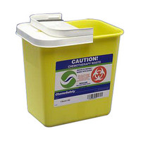 ChemoSafety Container with Hinged Lid 2 Gallon  688982-Each