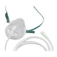 AirLife Medium-Concentration Oxygen Mask with Under Chin Strap and 7' Crushproof Tubing  55001262-Each
