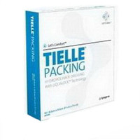 """TIELLE Packing Hydropolymer Dressing 3-5/8"""" x 3-5/8""""  53MT2450-Case"""