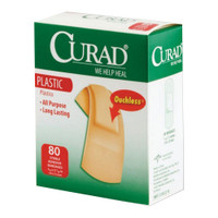 Curad Plastic Adhesive Bandage, Assorted Sizes  60CUR45157RB-Box