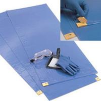 """ChemoPlus Adhesive Contamination Control Floor Mat 18"""" x 46"""", Blue  68CT0071-Case"""