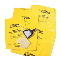 ChemoPlus Chemo Soft Waste Bag with Closure Tie 30 Gallon, Yellow  68DP5043B-Case