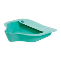 "Bariatric Bed Pan with Anti-splash 15"" x 14-1/4"" W x 3"" H, Mint Green, Plastic  AZ711255-Each"